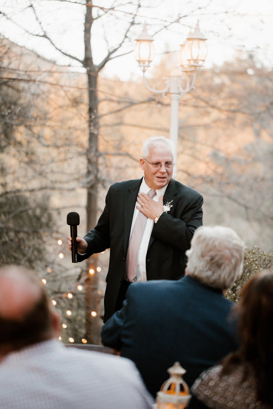 reception father of bride giving an emotional speech