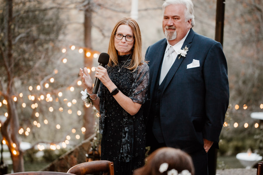 reception - moments in between groom's mom and dad giving an emotional speech