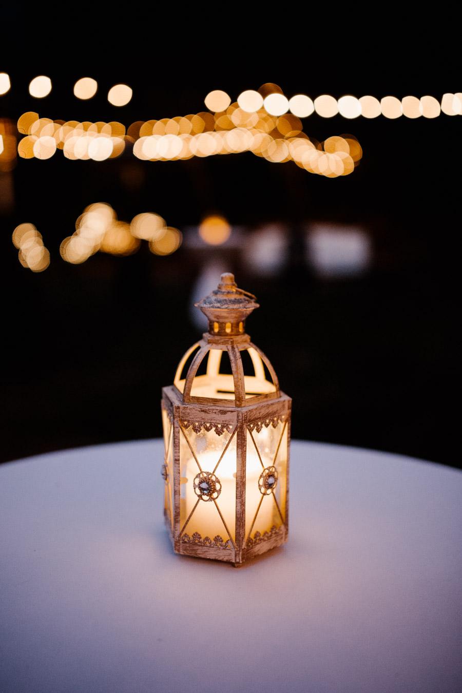 lantern detail with beautiful bokeh on the back