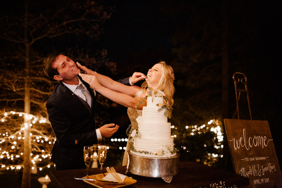 reception - moments in between cutting the cake and sharing it