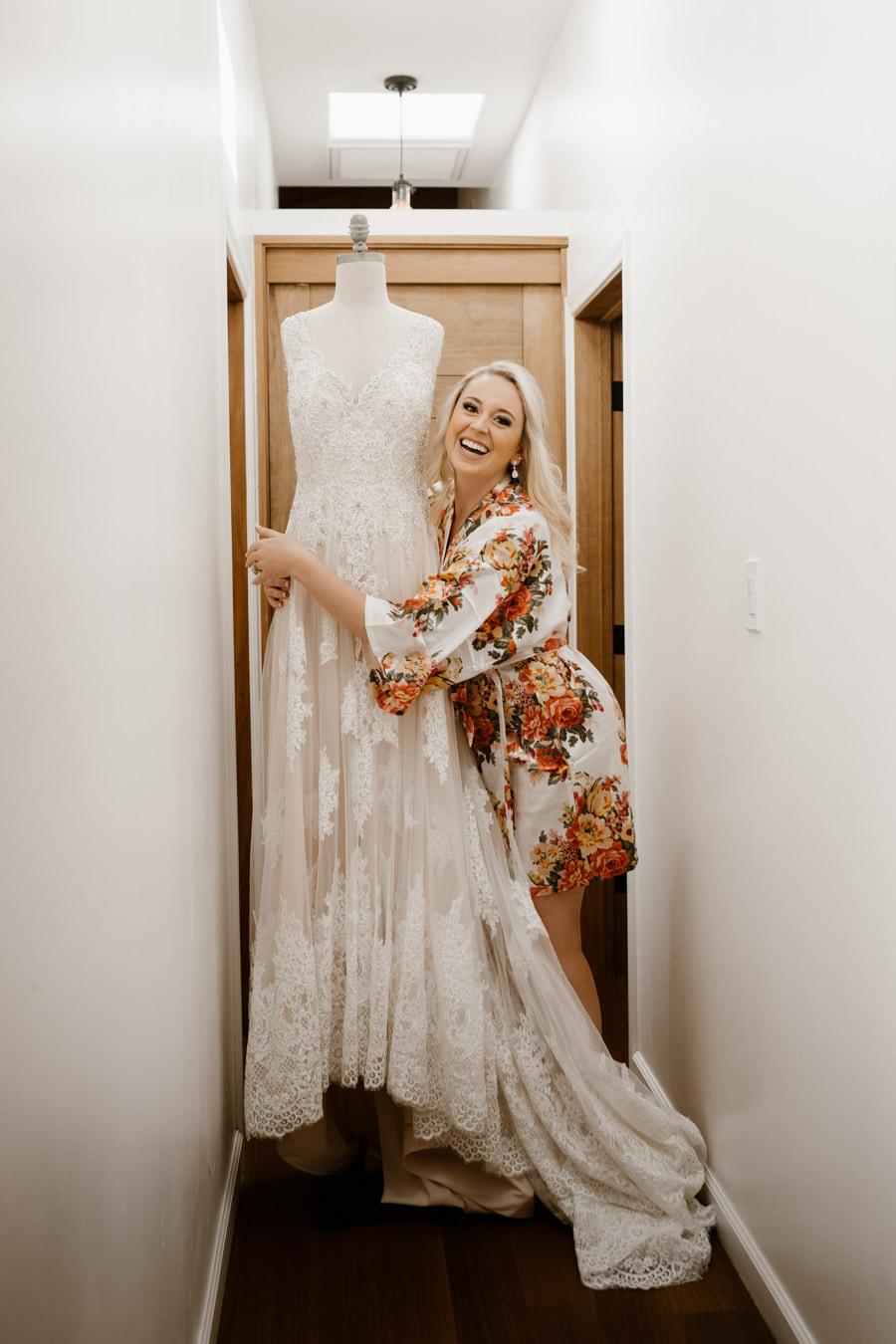 sacred mountain julian wedding bride and her beautiful dress