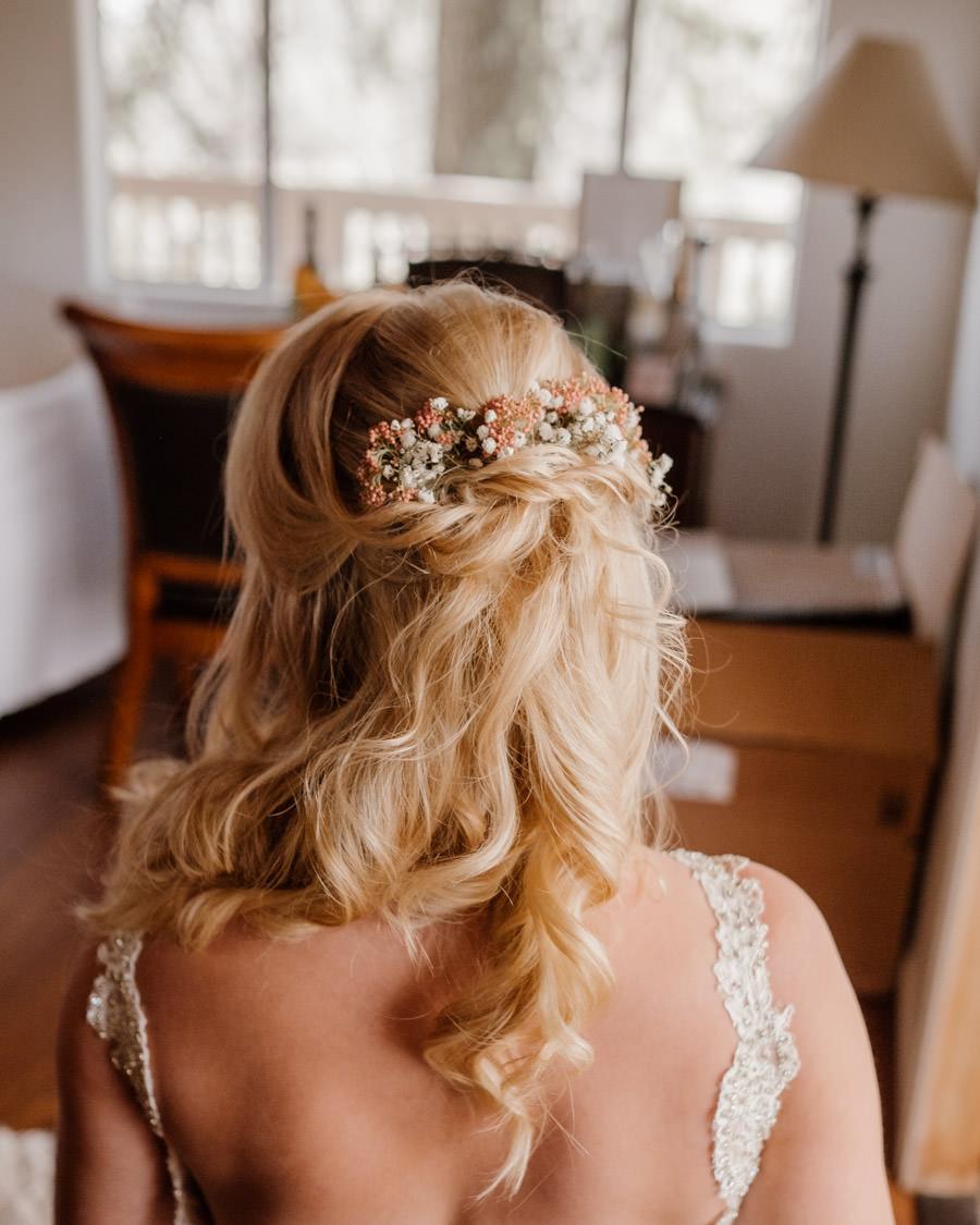 sacred mountain julian wedding beautiful hair done