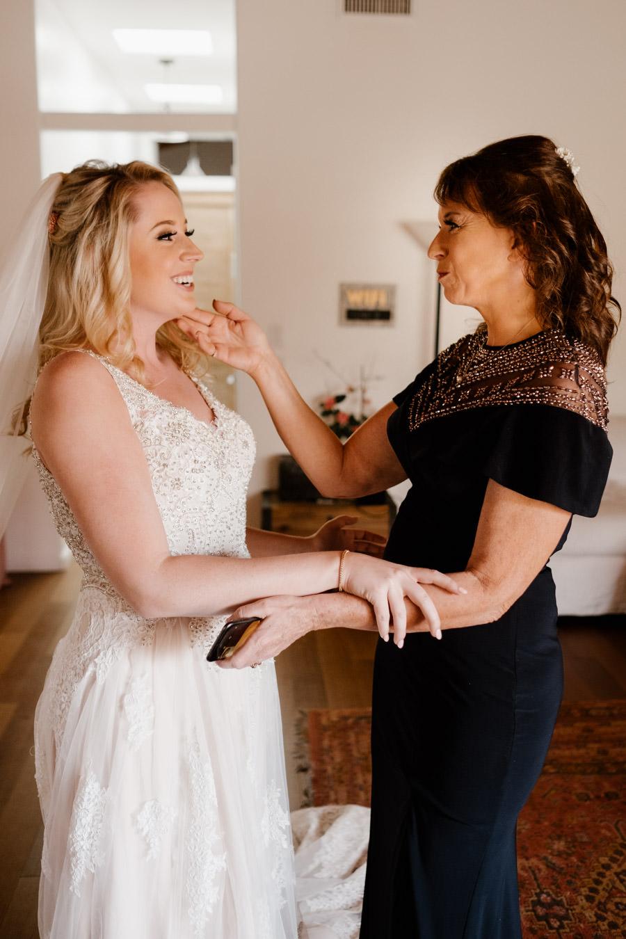 sacred mountain julian wedding mom and daughter moment