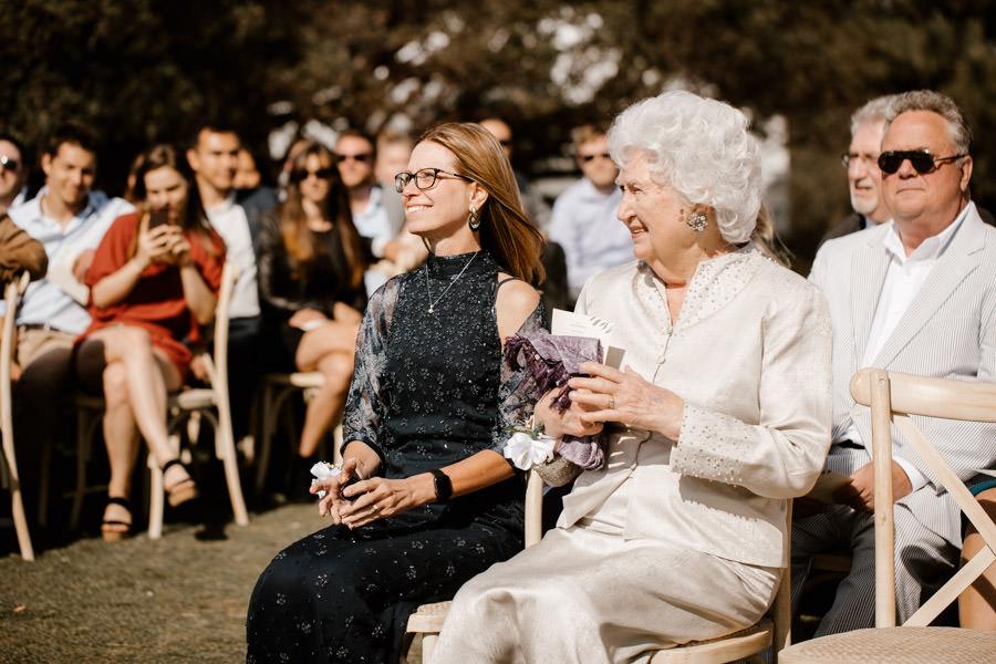 grandma and mom looking proud