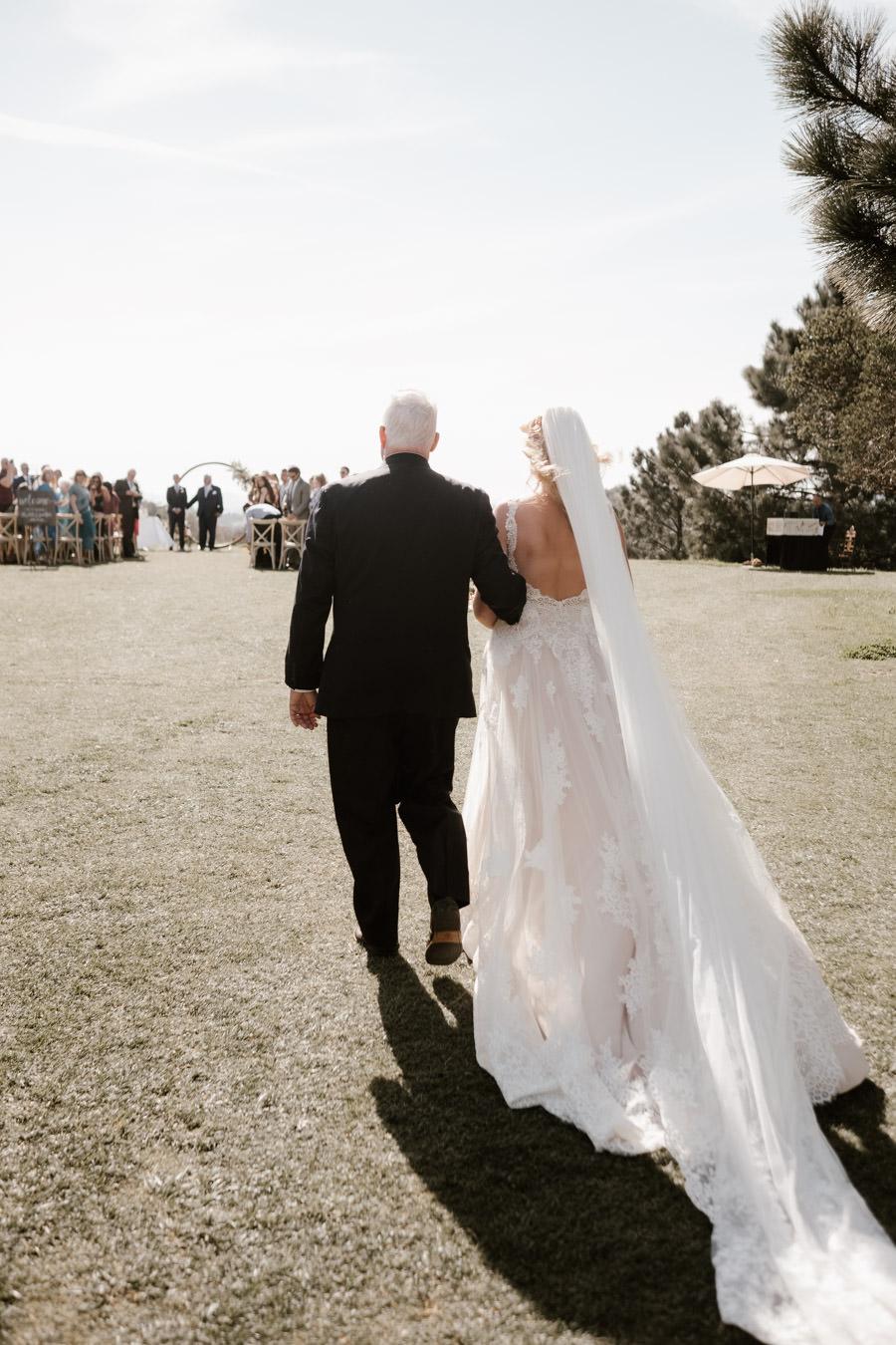 sacred mountain julian wedding here comes the bride