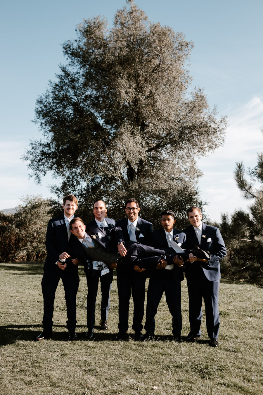groom and his guys being guys