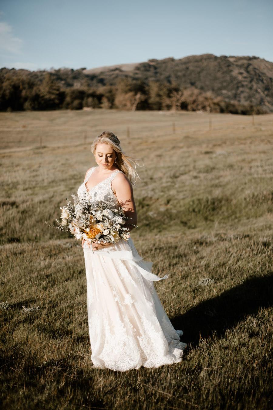 bridal sunset portrait