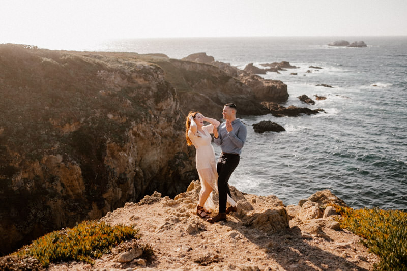 big sur engagement session dance your butts off