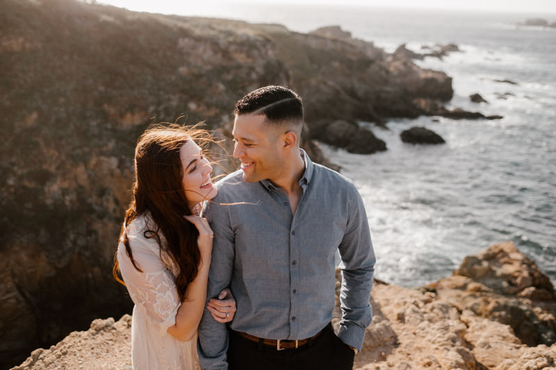 big sur engagement session sweet moment