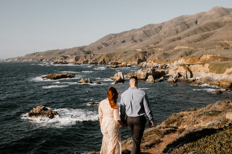 big sur engagement session follow me to adventures