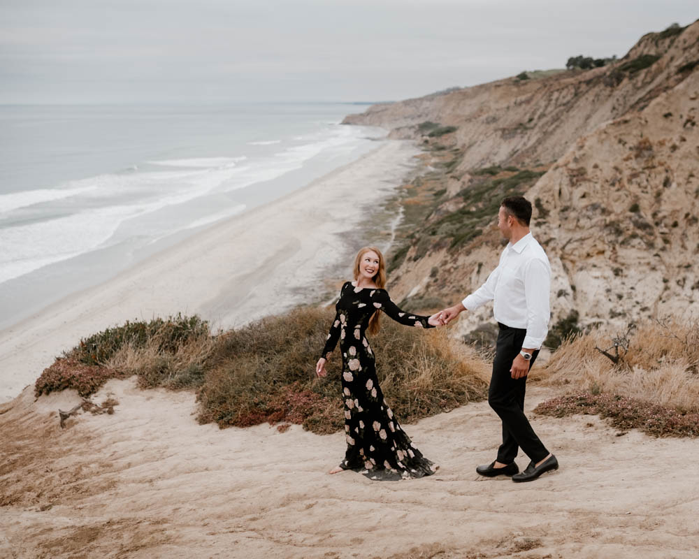 California top 33 epic engagement photography locations walking down the beach