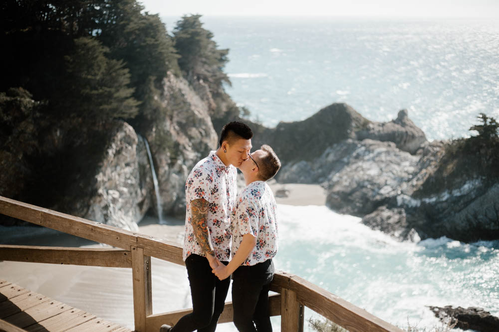 California top 33 epic engagement photography locations big sur waterfalls
