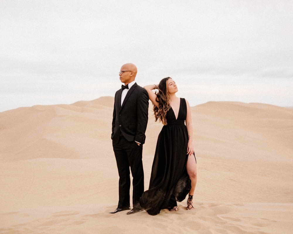 California top 33 epic engagement photography locations glamis sand dunes black in black