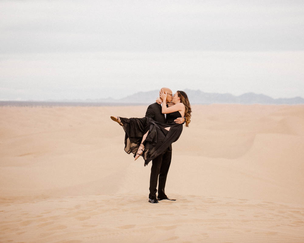 California top 33 epic engagement photography locations desert kiss