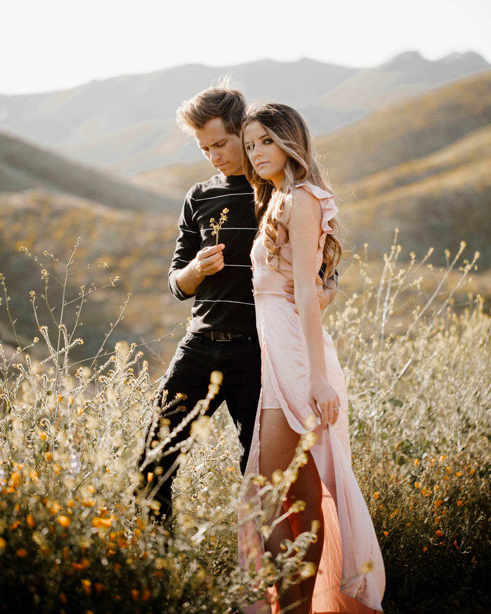 San Diego top 7 amazing engagement session locations walker canyon super bloom