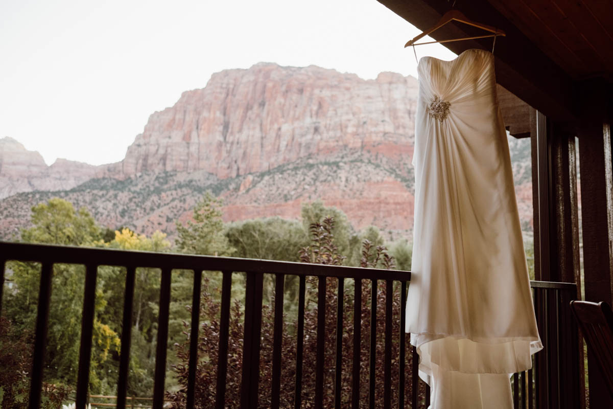 zion national park wedding wedding dress