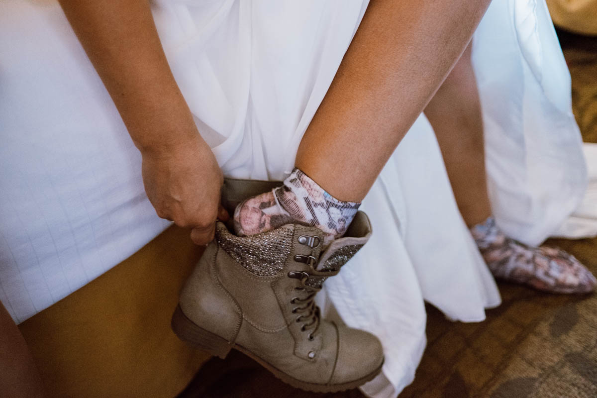 zion national park wedding unique boots