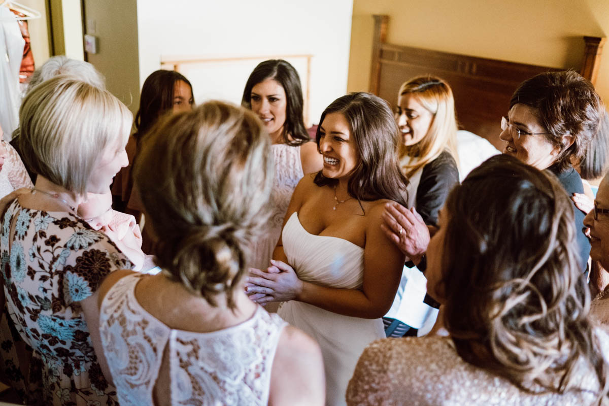 zion national park wedding fun moment between women