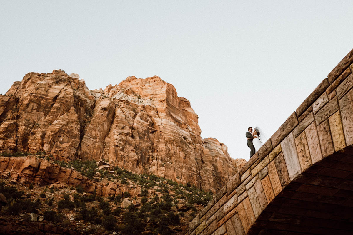 zion national park wedding tiny humans big scene