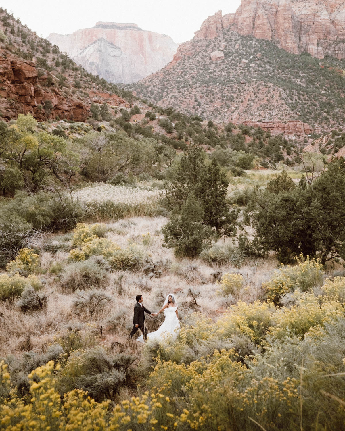 zion national park wedding beautiful walk in nature