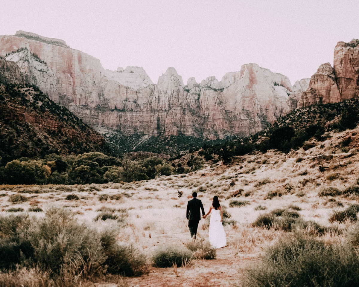 zion national park wedding a walk with nature