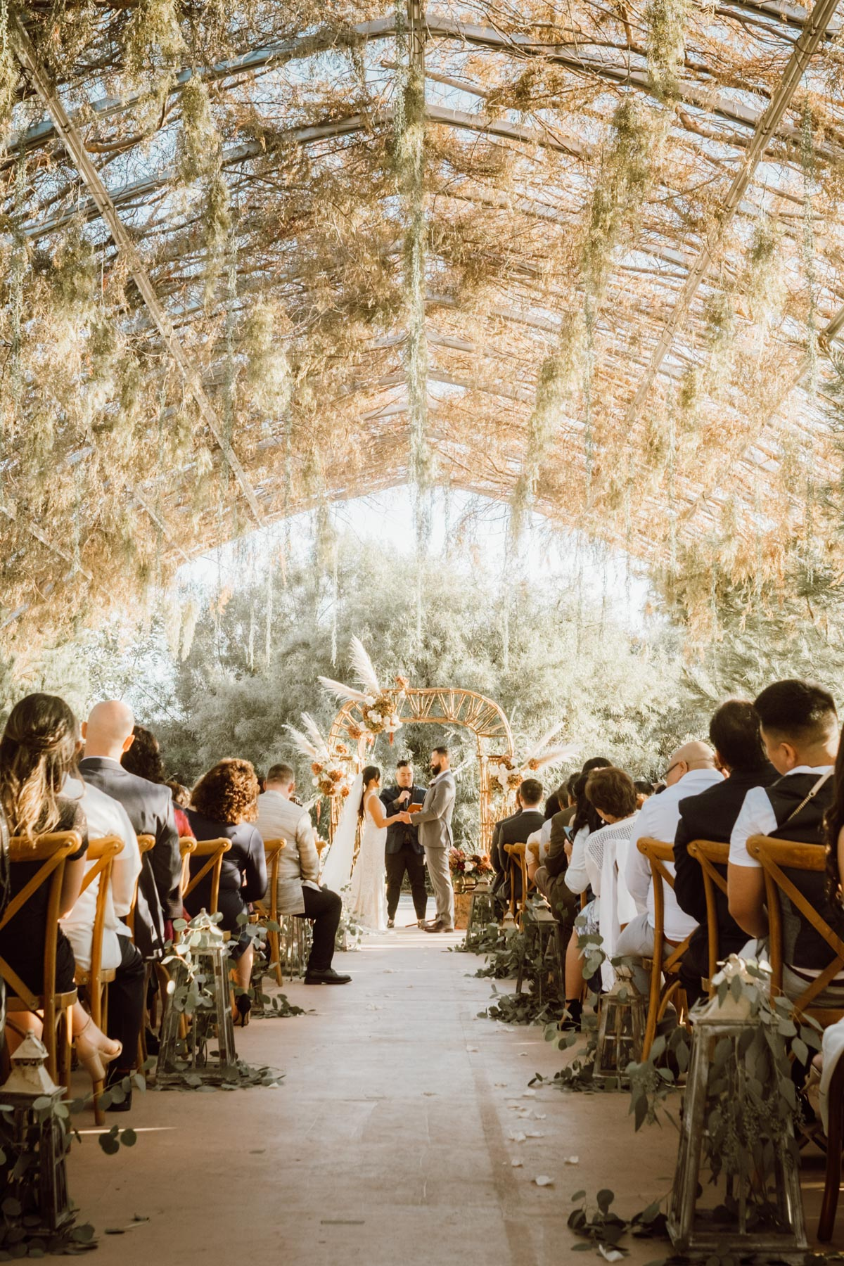 ethereal gardens wedding ceremony 1
