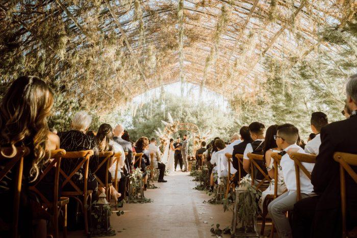 ethereal gardens wedding romantic ceremony