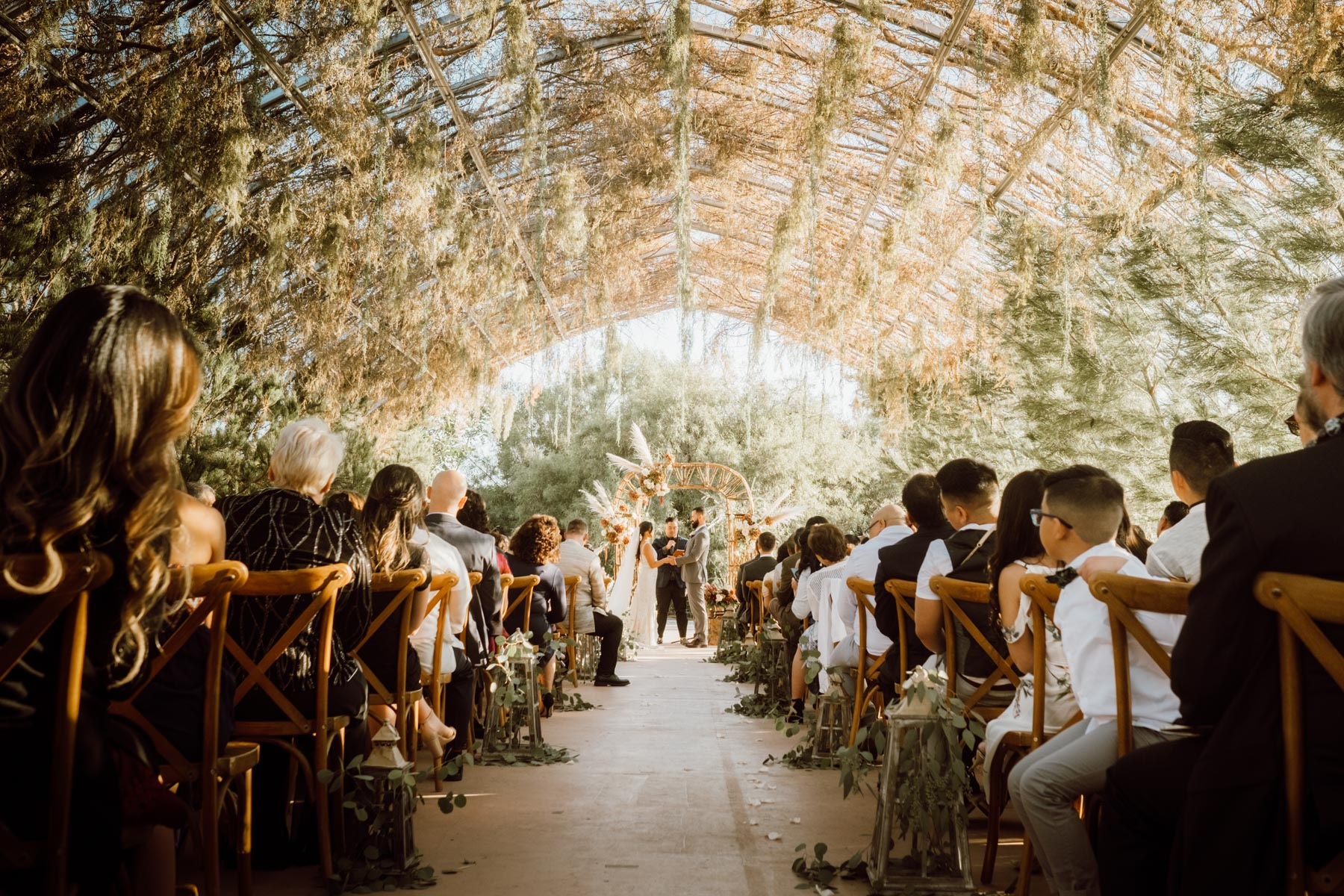 ethereal gardens wedding romantic ceremony