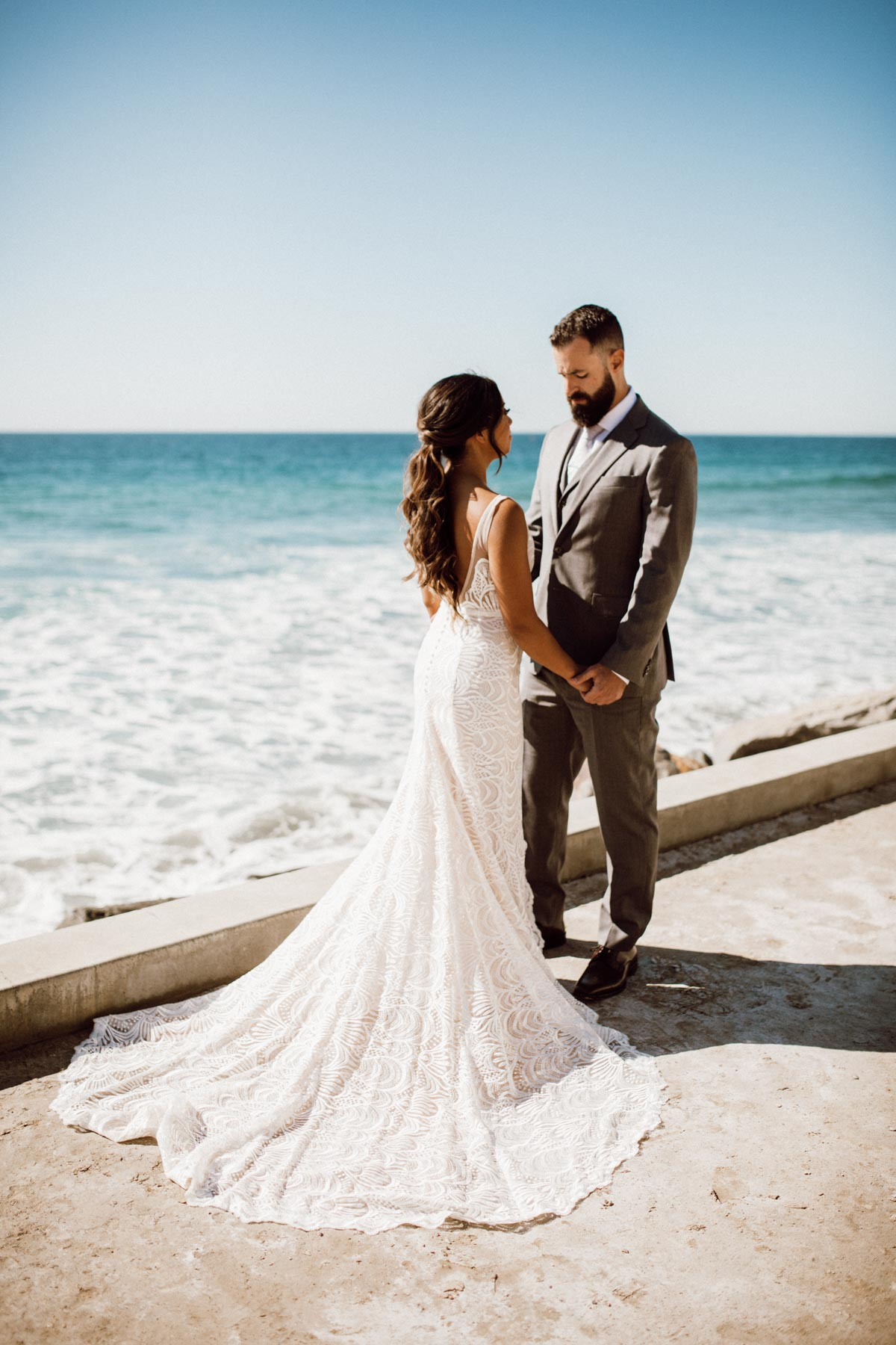 ethereal gardens wedding first look