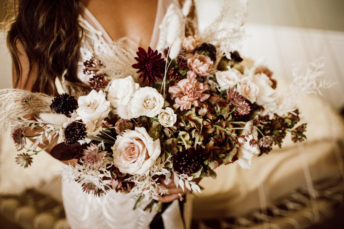 ethereal gardens wedding bridal bouquet