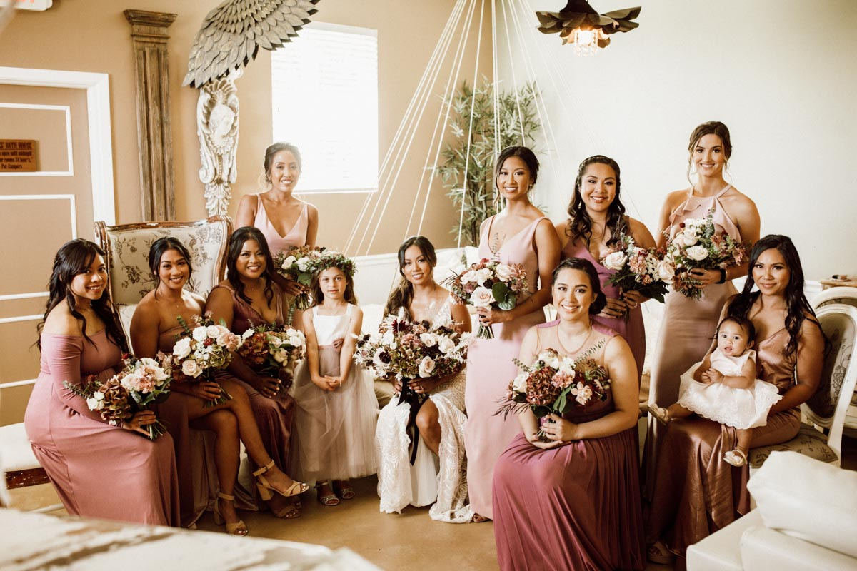 ethereal gardens wedding bride tribe