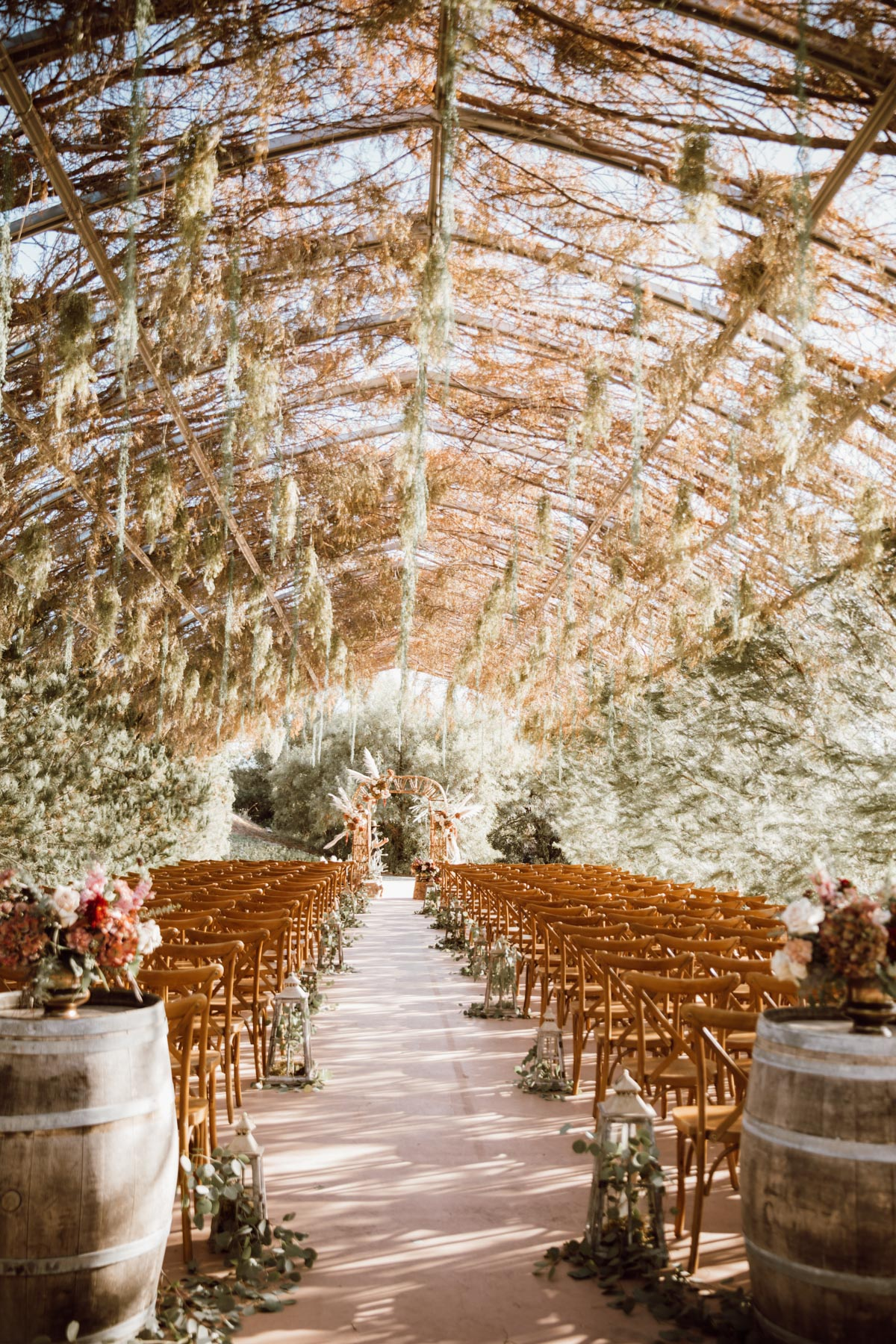 ethereal gardens wedding dreamy ceremony