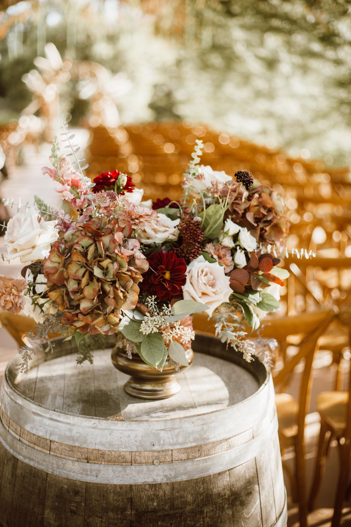 ethereal gardens wedding floral design for ceremony