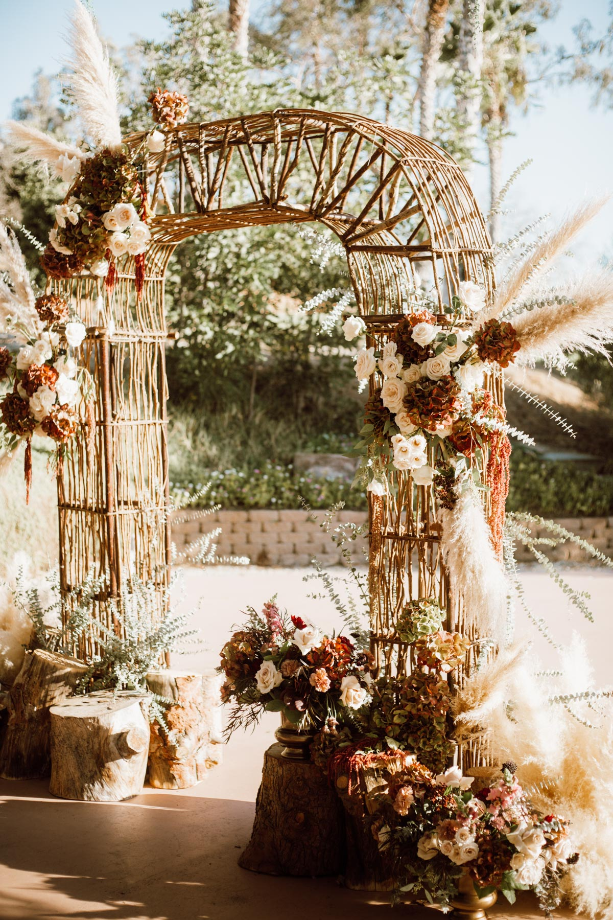 ethereal gardens wedding gorgeous ceremony arch