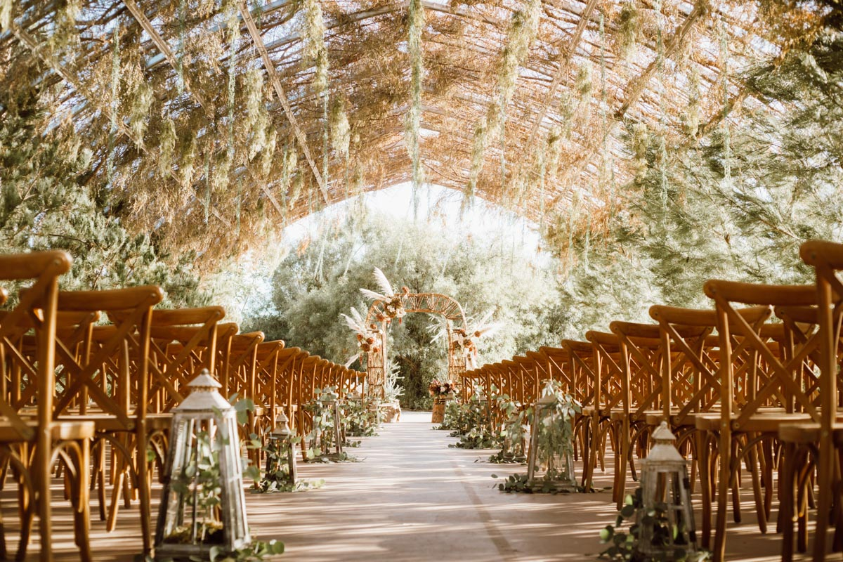 ethereal gardens wedding gorgeous green house ceremony