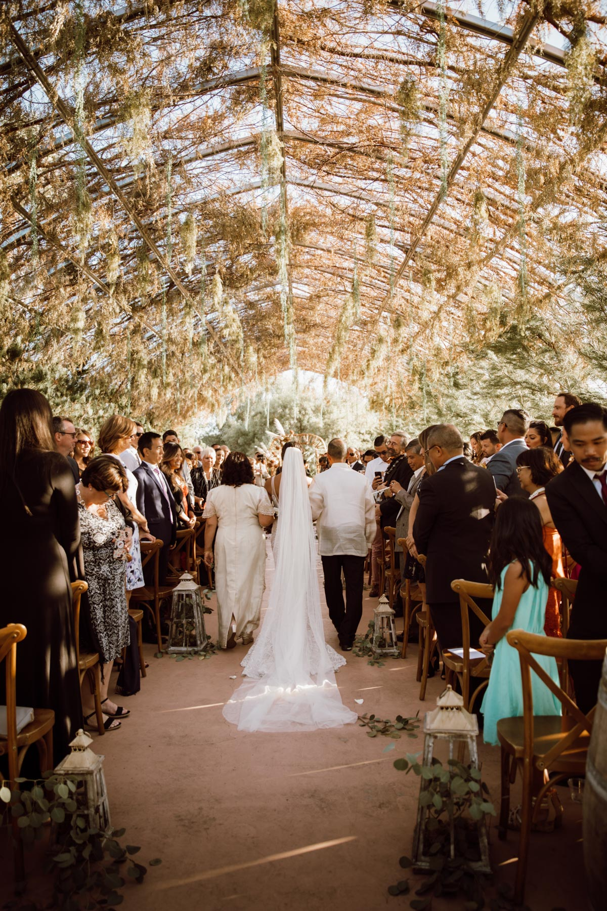 ethereal gardens wedding here comes the bride