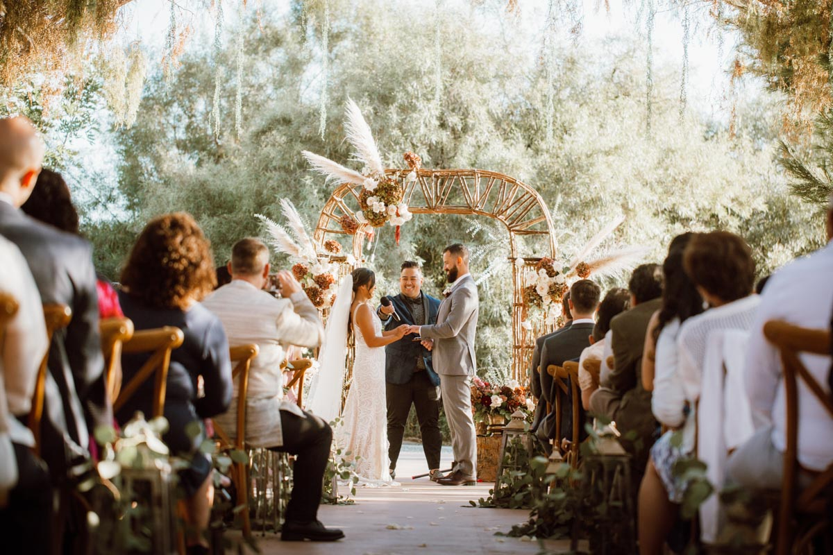 ethereal gardens wedding saying i do