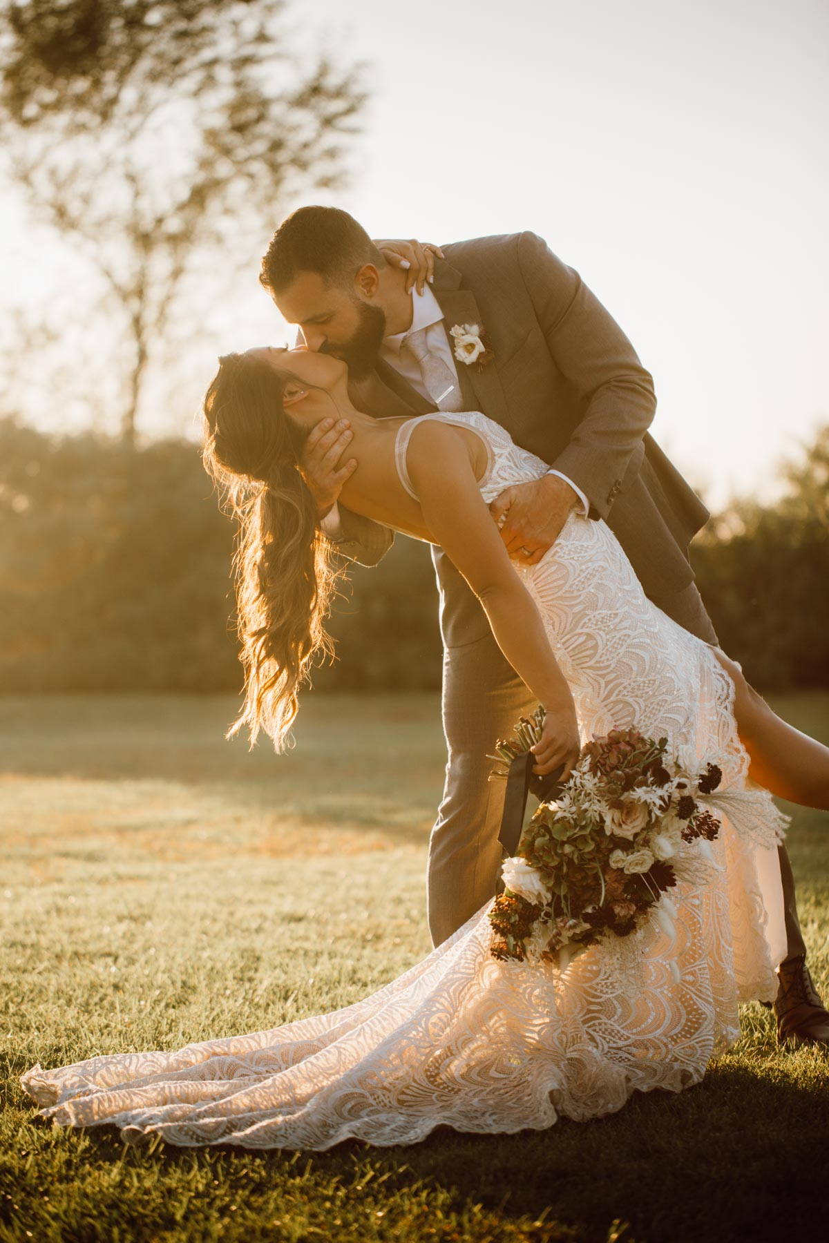 ethereal gardens wedding golden hour