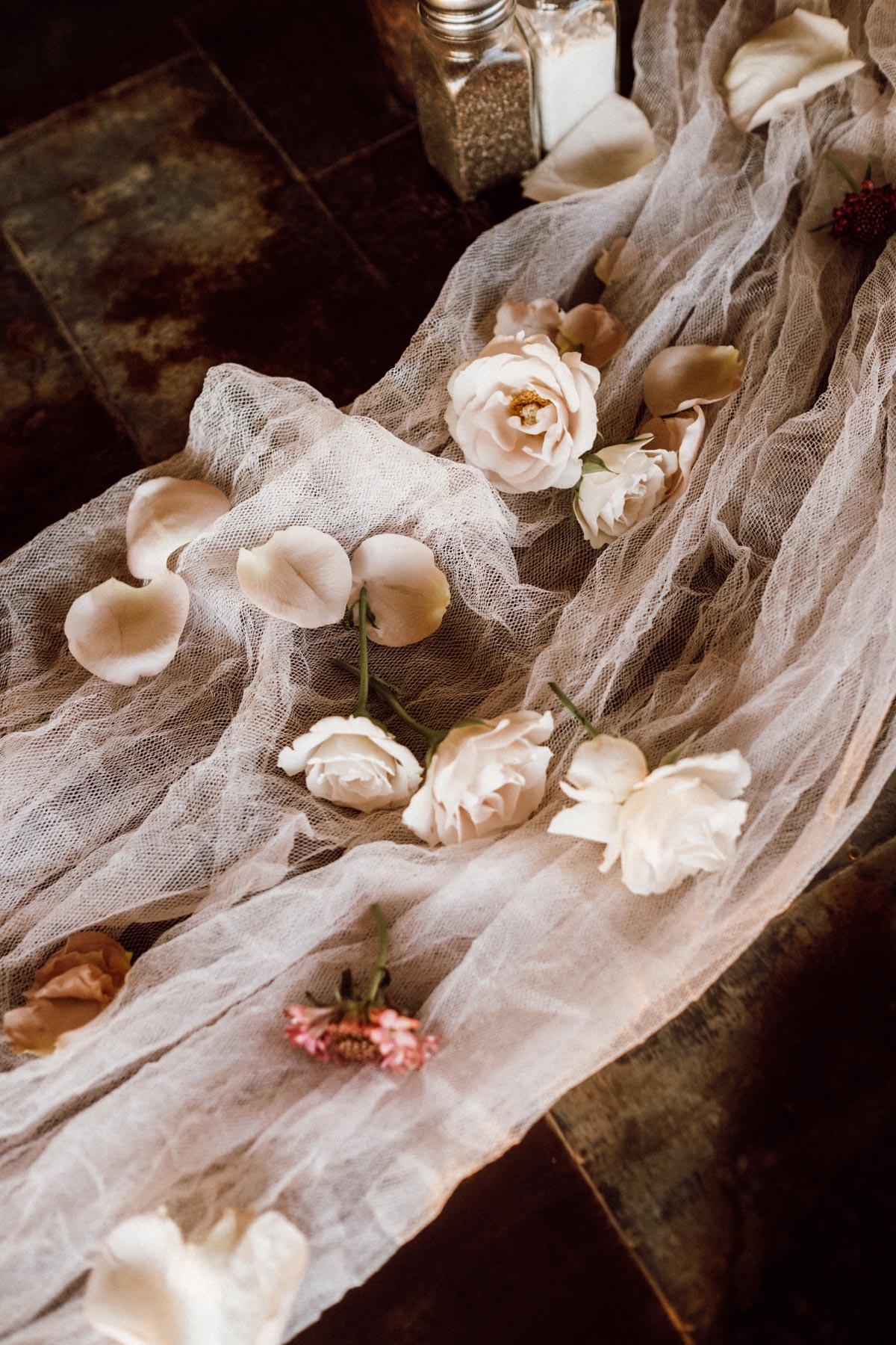 ethereal gardens wedding love petals