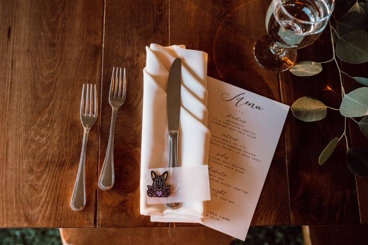 ethereal gardens wedding menu