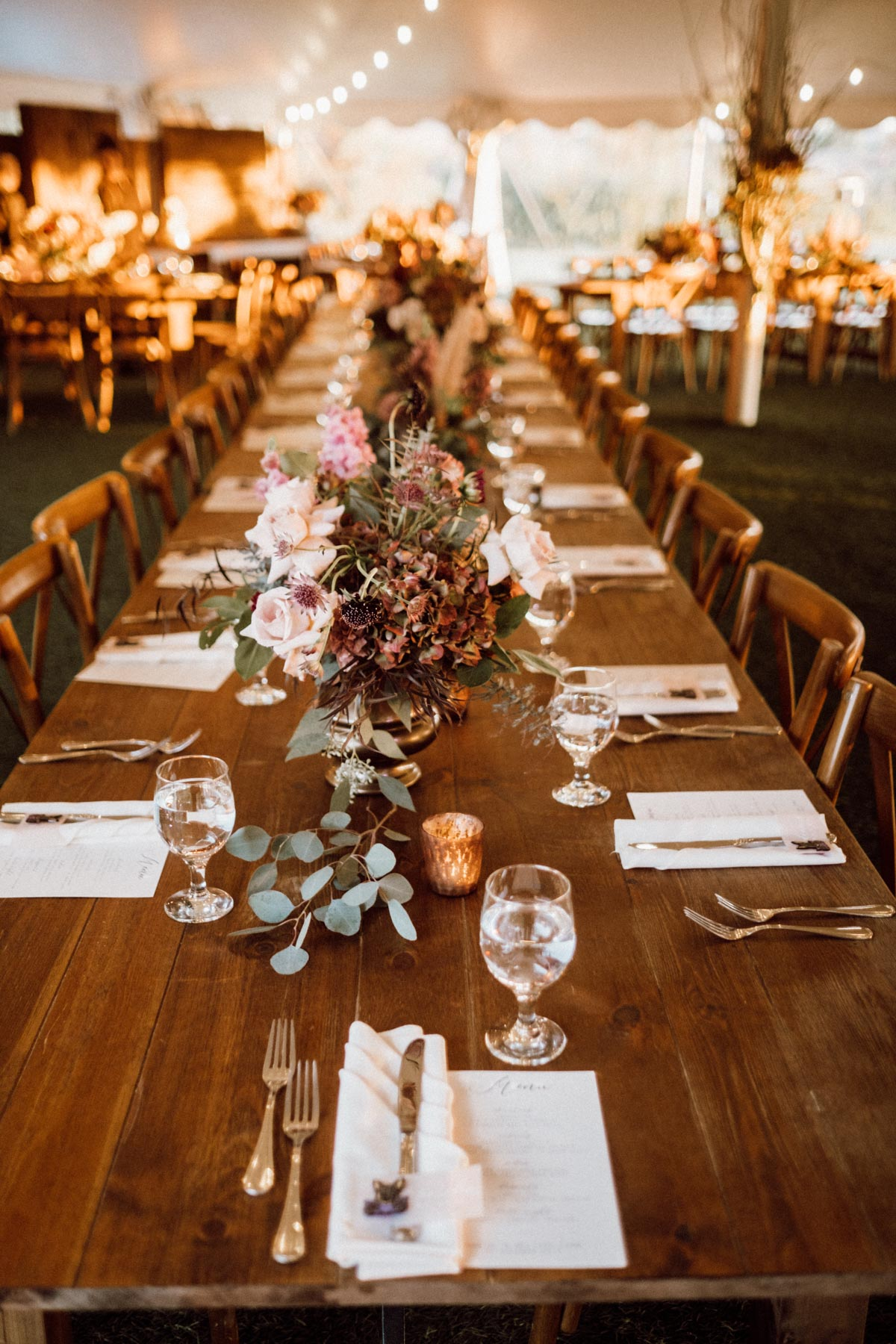 ethereal gardens wedding reception table