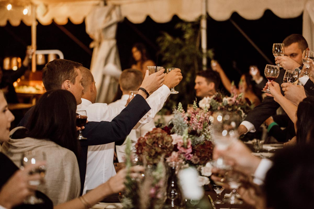 ethereal gardens wedding toast for the couple