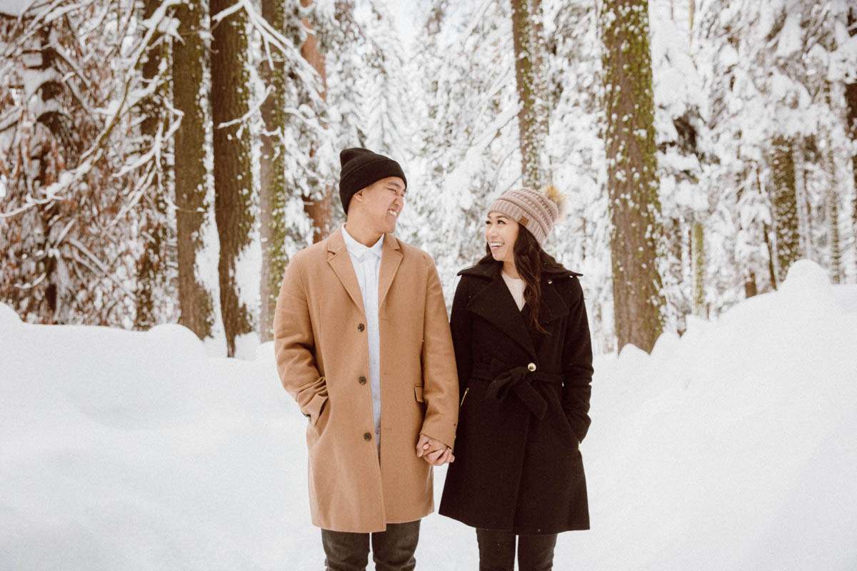 sequoia national park engagement session fun moment