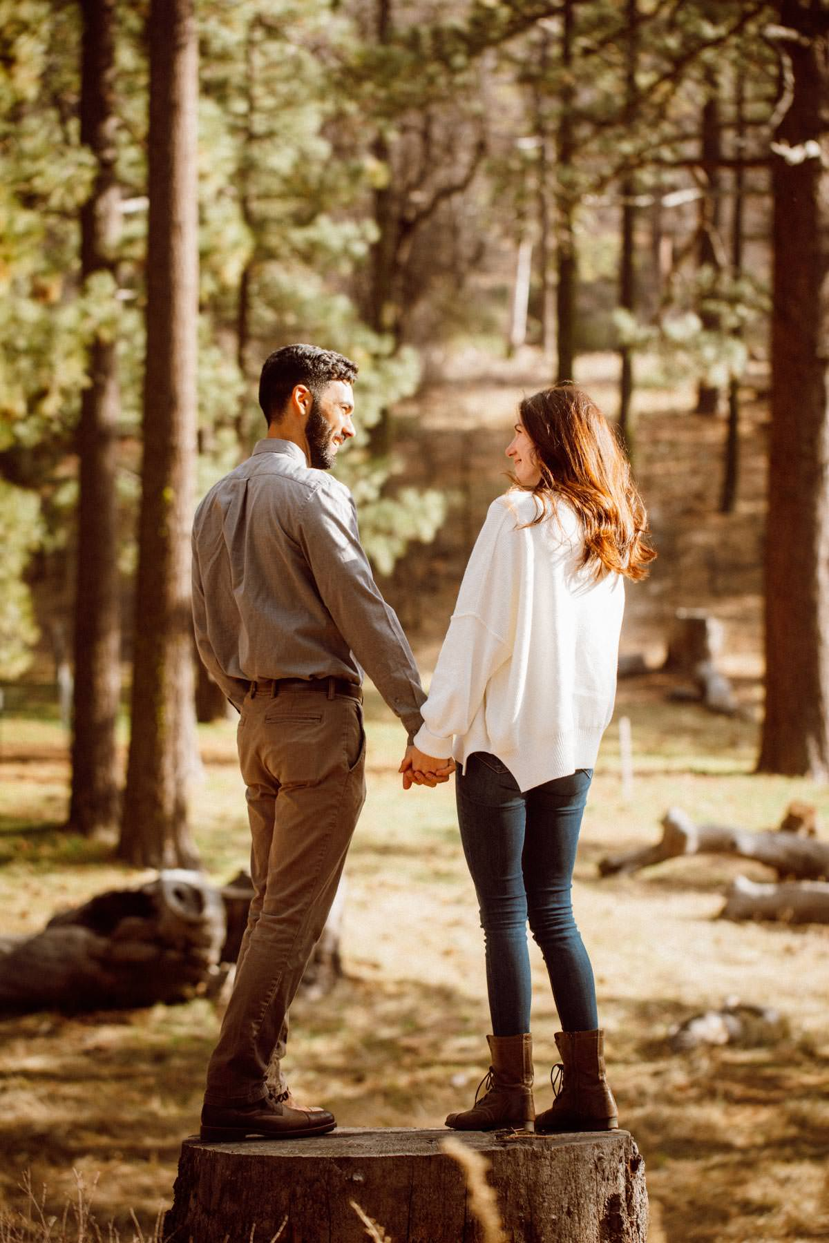 mount laguna engagement shoot - in the woods