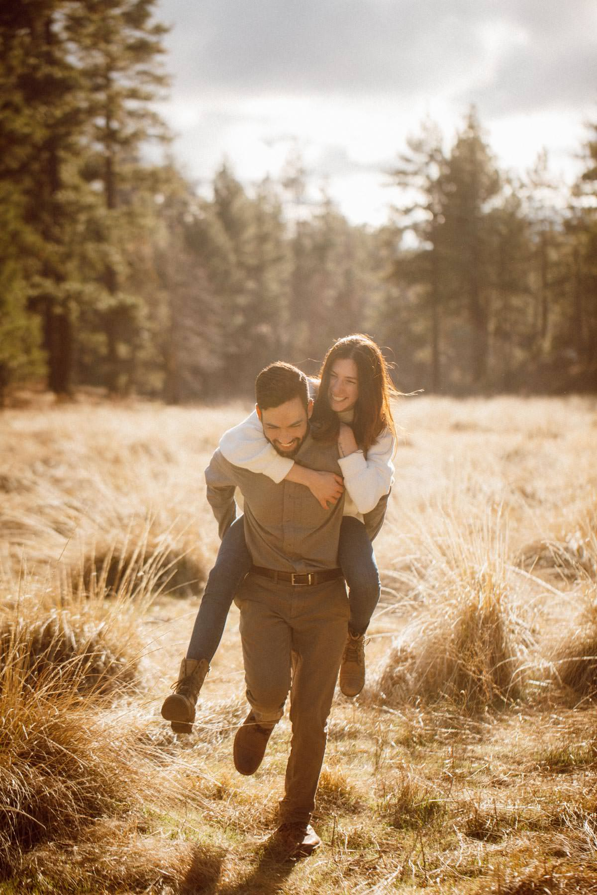 mount laguna engagement shoot having fun like kids