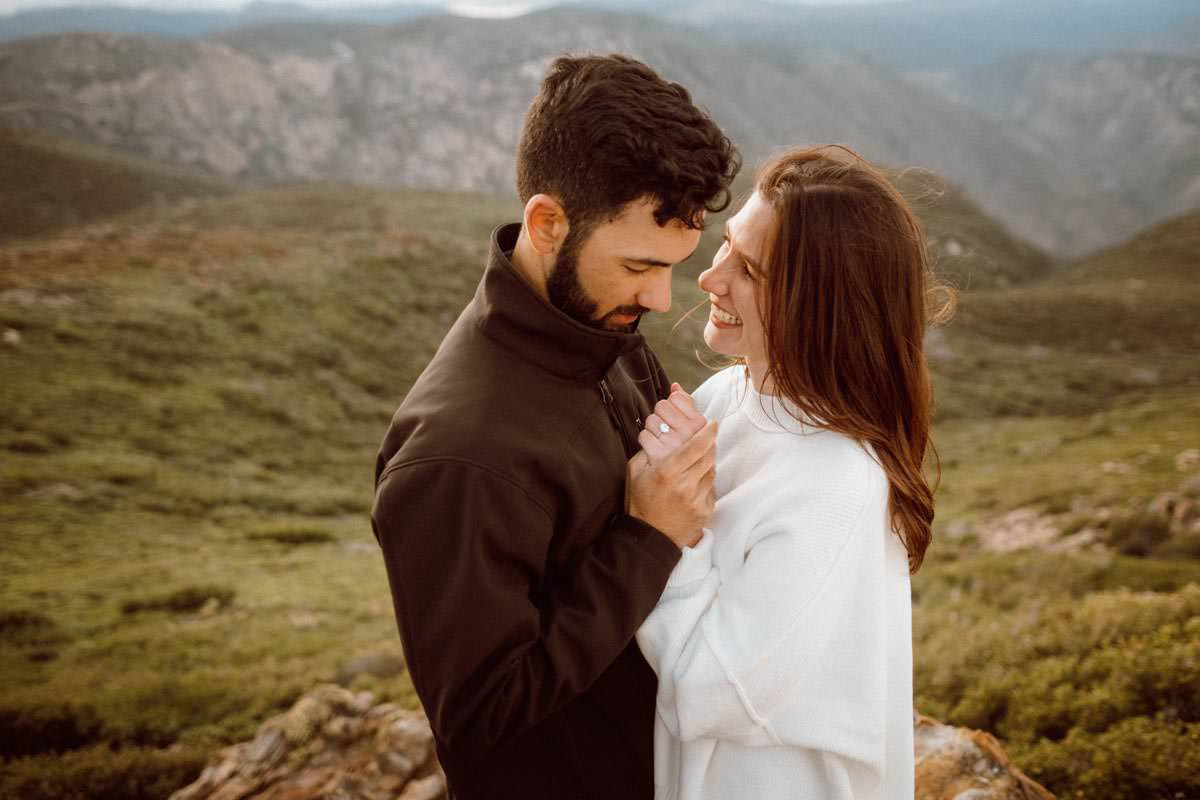 mount laguna engagement shoot just us in the wild