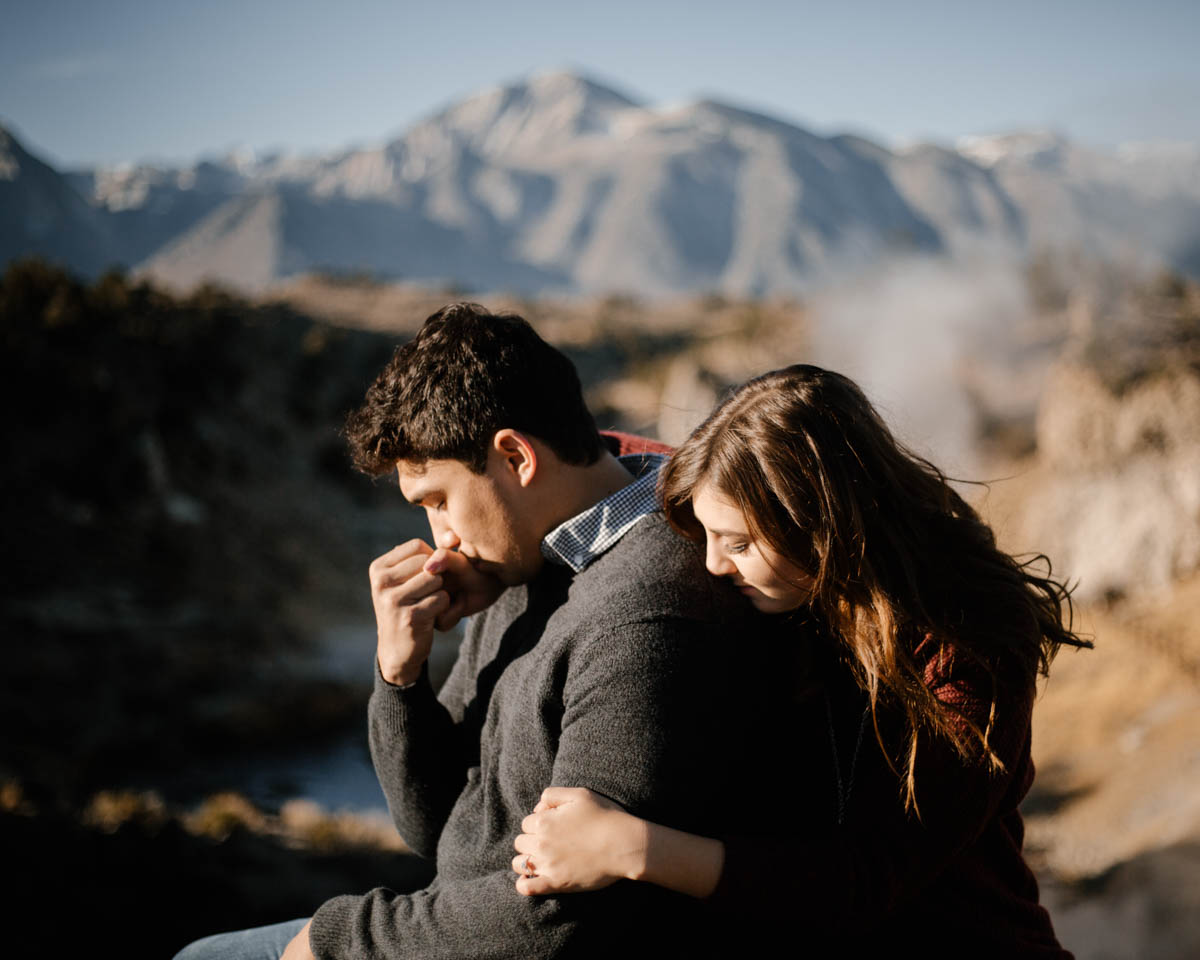 mammoth lakes engagement session a soft touch