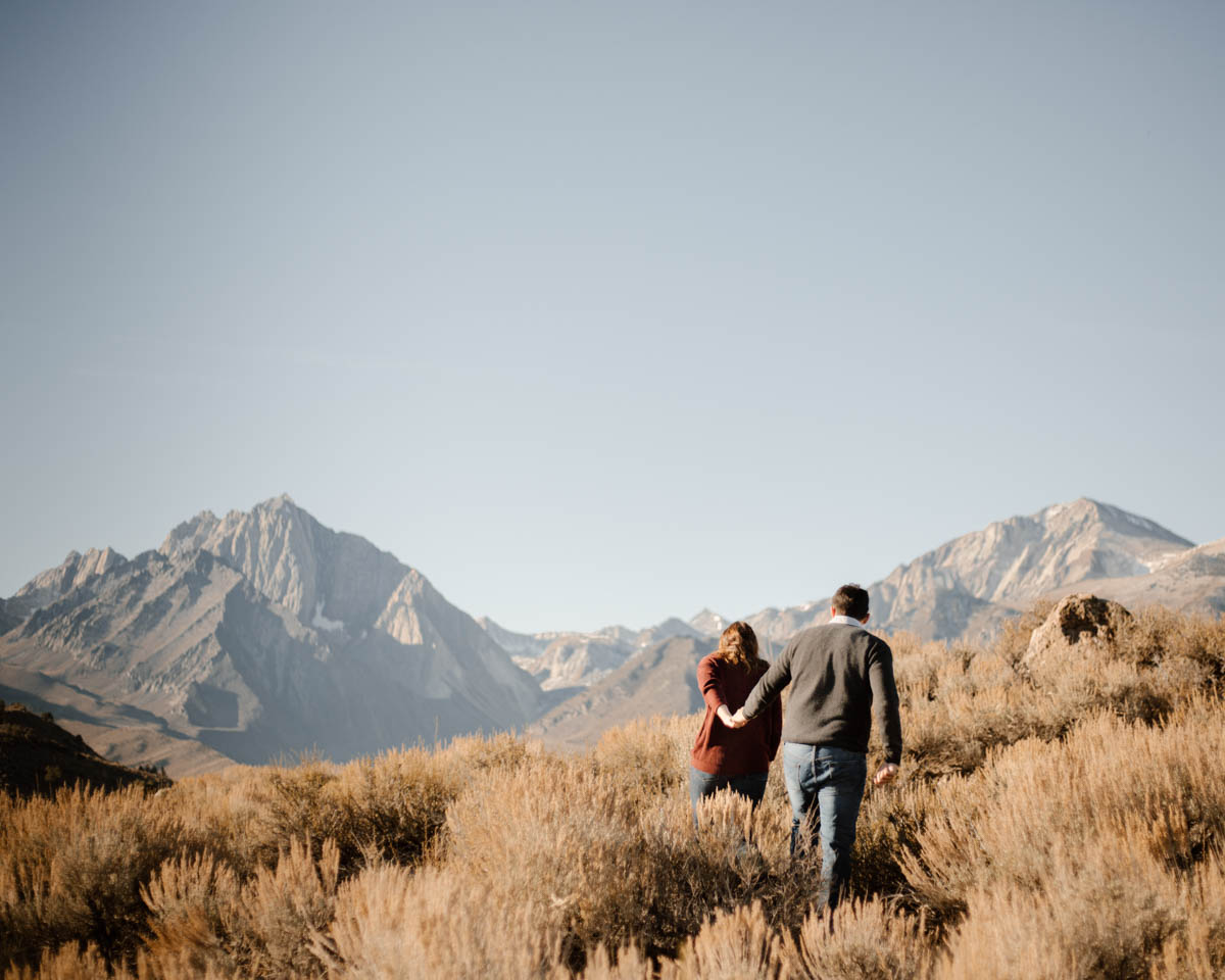 mammoth lakes engagement session hold my hand and take me with you