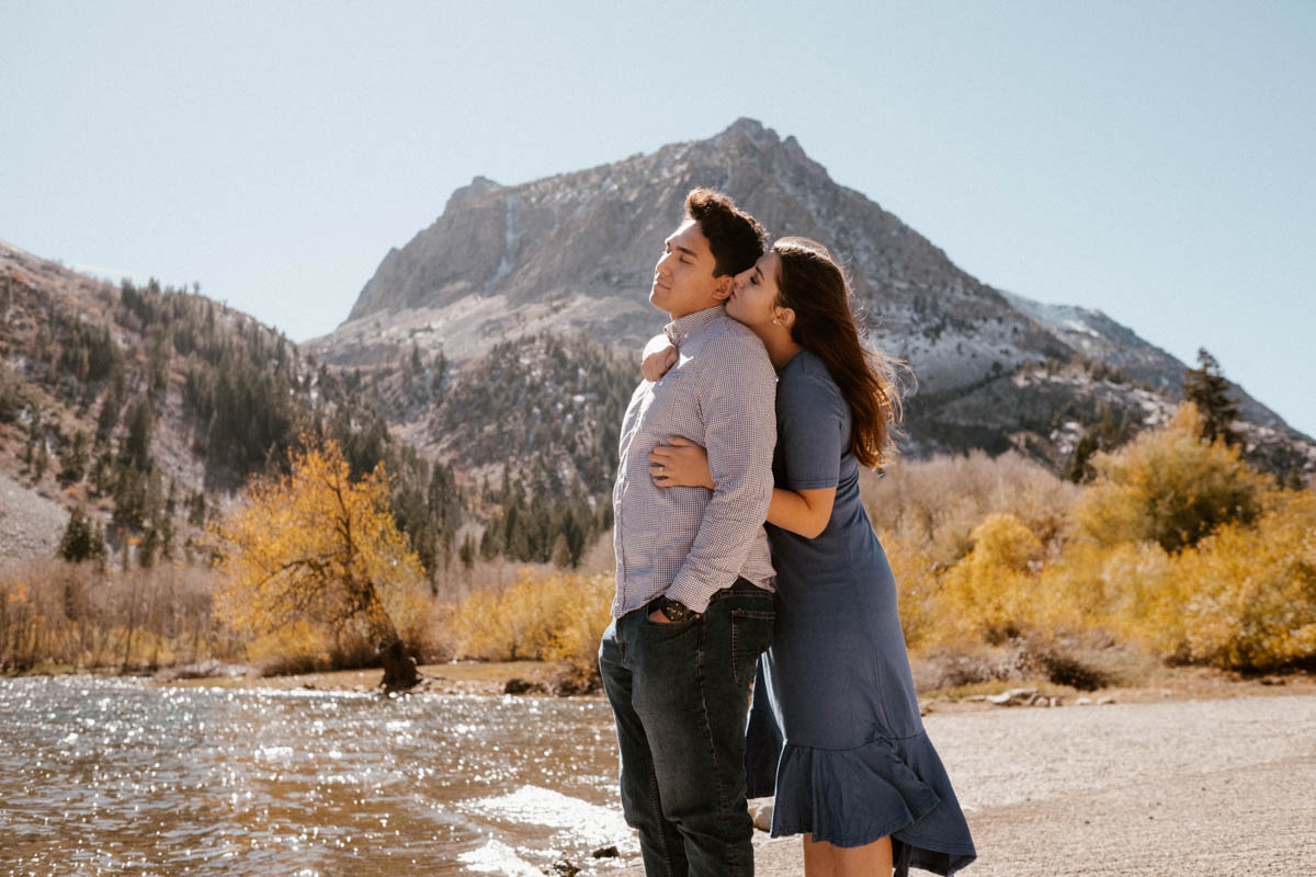 mammoth lakes engagement session exploring june lake